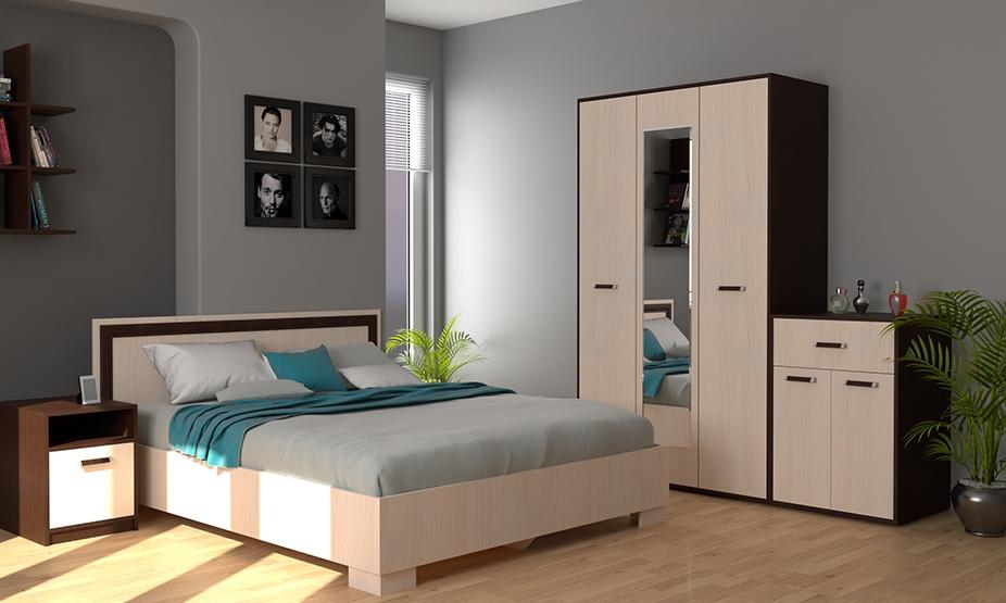 фото модульная спальня Гранд фабрика Миларум