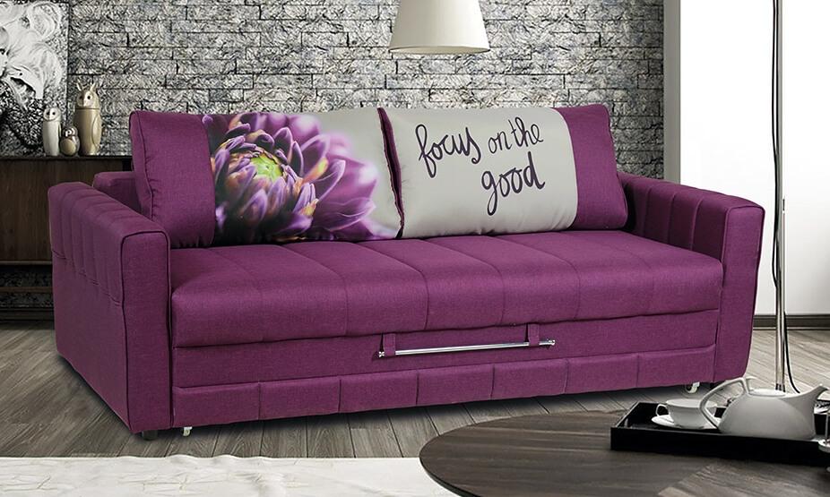 прямой красивый диван-еврокнижка фабрика Миларум фото